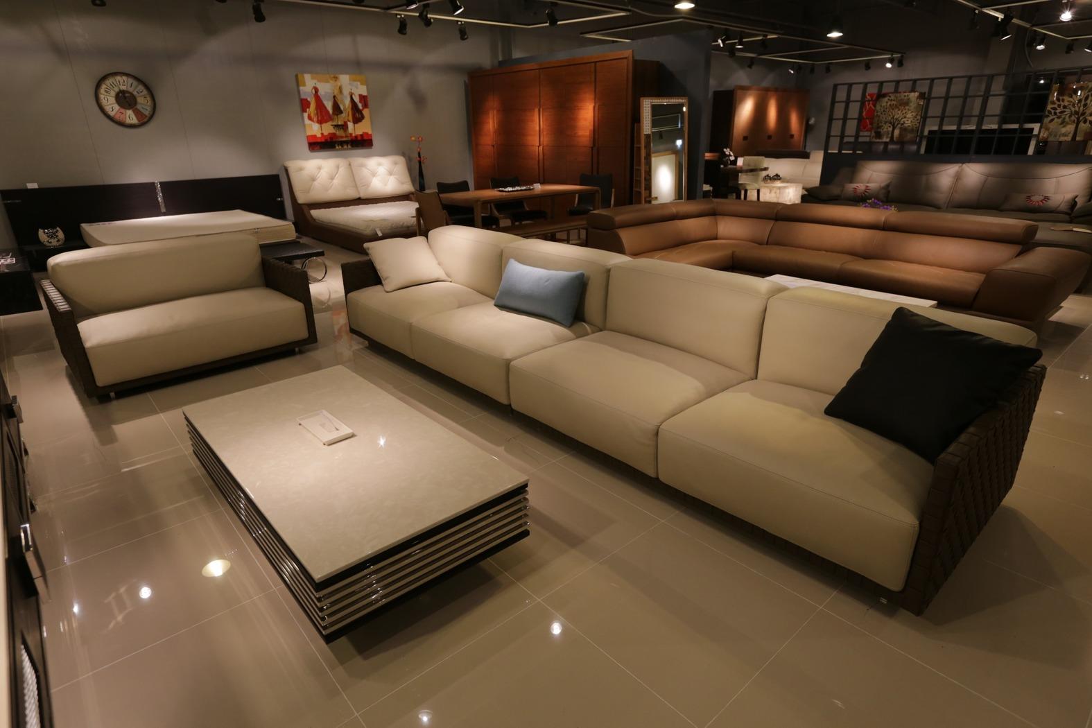 Beautiful angular sofa